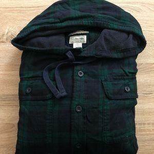 LL Bean Men's Fleece Lined Flannel